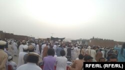 The protesters in Mir Ali, North Waziristan, are calling on Pakistan's powerful military to ensure their security.
