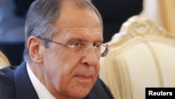 Russian Foreign Minister Sergei Lavrov in Moscow on May 28.
