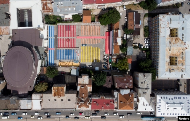 Open Air Cinema, centralno otvoreno kino Sarajevo Film Festivala, pogled iz drona