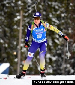 Українська біатлоністка Анастасія Меркушина