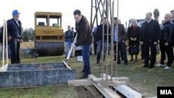 Премиерот Никола Груевски го означува почетокот на изградба на воден парк во општина Аеродром.
