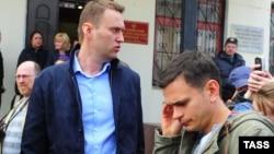 Аляксей Навальны и Ільля Яшын