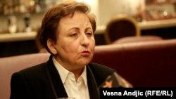 گفتگوی الهه روانشاد با شیرین عبادی در مورد تصمیم اتحادیه اروپا برای تمدید تحریمها علیه ۸۲ مقام ایرانی