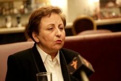 درخواست شیرین عبادی برای برکناری صادق لاریجانی از ریاست قوه قضائیه