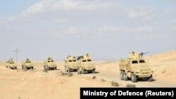 Илустрација: Египетски воени возила на Синајскиот Полуостров
