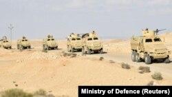 Египет армиясынын күчтөрү Синайда. 4-март, 2018-жыл.