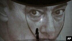 Salvador Dali portret u Puškinovom muzeju u Moskvi, 2011.