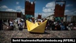 La un meeting la Kiev în sprijinul marinarilor ucraineni arestați în Rusia