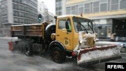 Čišćenje snega u Beogradu, foto: Vesna Anđić
