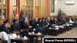 جلسه شماری از سیاسیون افغانستان در منزل محمد محقق در کابل. Jan.25.2020