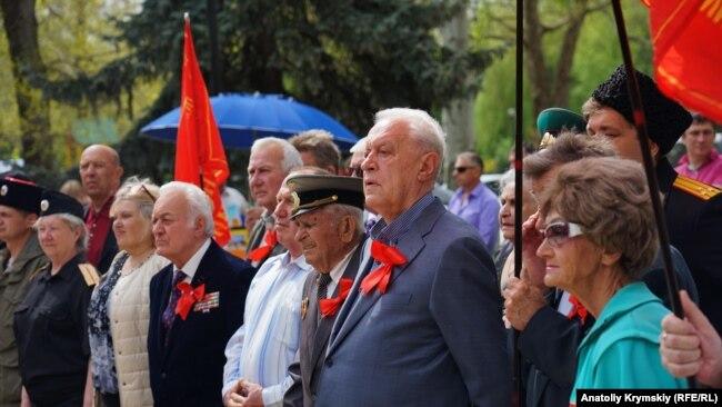 Леонид Грач на митинге 1 мая в Симферополе