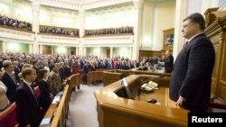 Петро Порошенко в парламенті, 27 листопада 2014 року