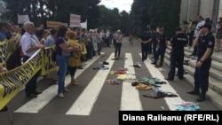 Protestul micilor întreprinzători, 20 iulie, Chișinău