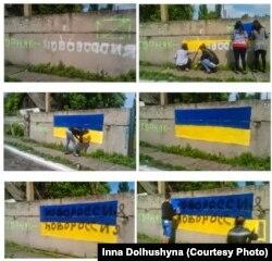 Cтіни у місті Гірнику під час окупації угрупованням «ДНР»