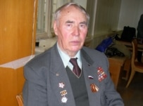 World War II veteran Mikhail Borisov (RFE/RL)