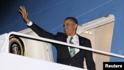 Барак Обама перед вылетом в Израиль