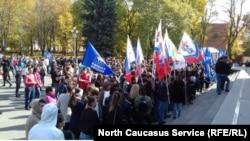 Протестная акция против тоников во Владикавказе, 14 октября 2017 года