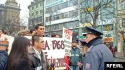Praqada etiraz aksiyası, 07 fevral 2009