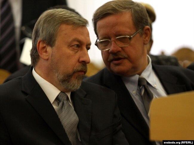 Андрэй Саньнікаў і Віктар Івашкевіч