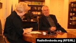 Мілош Земан під час інтерв'ю Радіо Свобода
