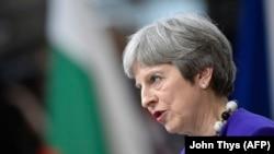 Премьер-министр Великобритании Треза Мэй на саммите ЕС Брюсселе