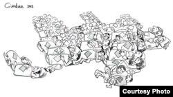 Gündüz Ağayevdən karikatura
