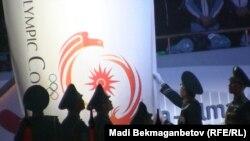 Церемония закрытия зимней Азиады во Дворце спорта и культуры имени Балуана Шолака. Алматы, 6 января 2011 года.