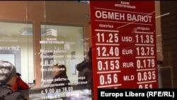 De o lună la Tiraspol, băncile și casele de schimb nu mai vând valută