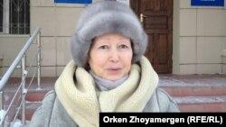 Жительница Павлодара Руза Бейсенбайтеги. Астана, 4 февраля 2014 года.