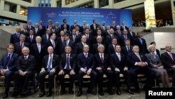 Група учасників весняного засідання керівного органу МВФ, Вашингтон, фото 19 квітя 2013 року