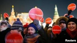Piața Manejului, Moscova, 30 decembrie 2014.