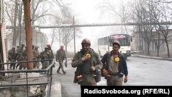 Шахтеры, работающие на шахте им. А.Ф.Засядько, Донецк, декабрь 2019 года