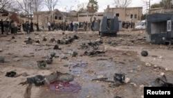 Сирияның Алеппо қаласындағы жарылыстан кейінгі көрініс. 10 ақпан, 2012 жыл.
