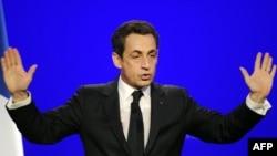 Николя Саркози на предвыборном митинге в Авиньоне, 30 апреля 2012 г.