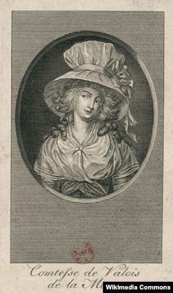 Жанна де Сен-Реми де Валуа, графиня де Ламотт. Неизвестный художник. Между 1793 и 1799
