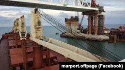 Строительство Керченского моста, сентябрь 2017