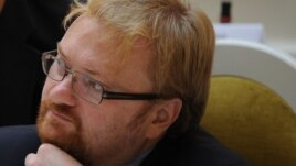 "St. Petersburg lawmaker Vitaly Milonov says European officials oppose Russian antigay legislation because ""many of them are members of the gay lobby."""
