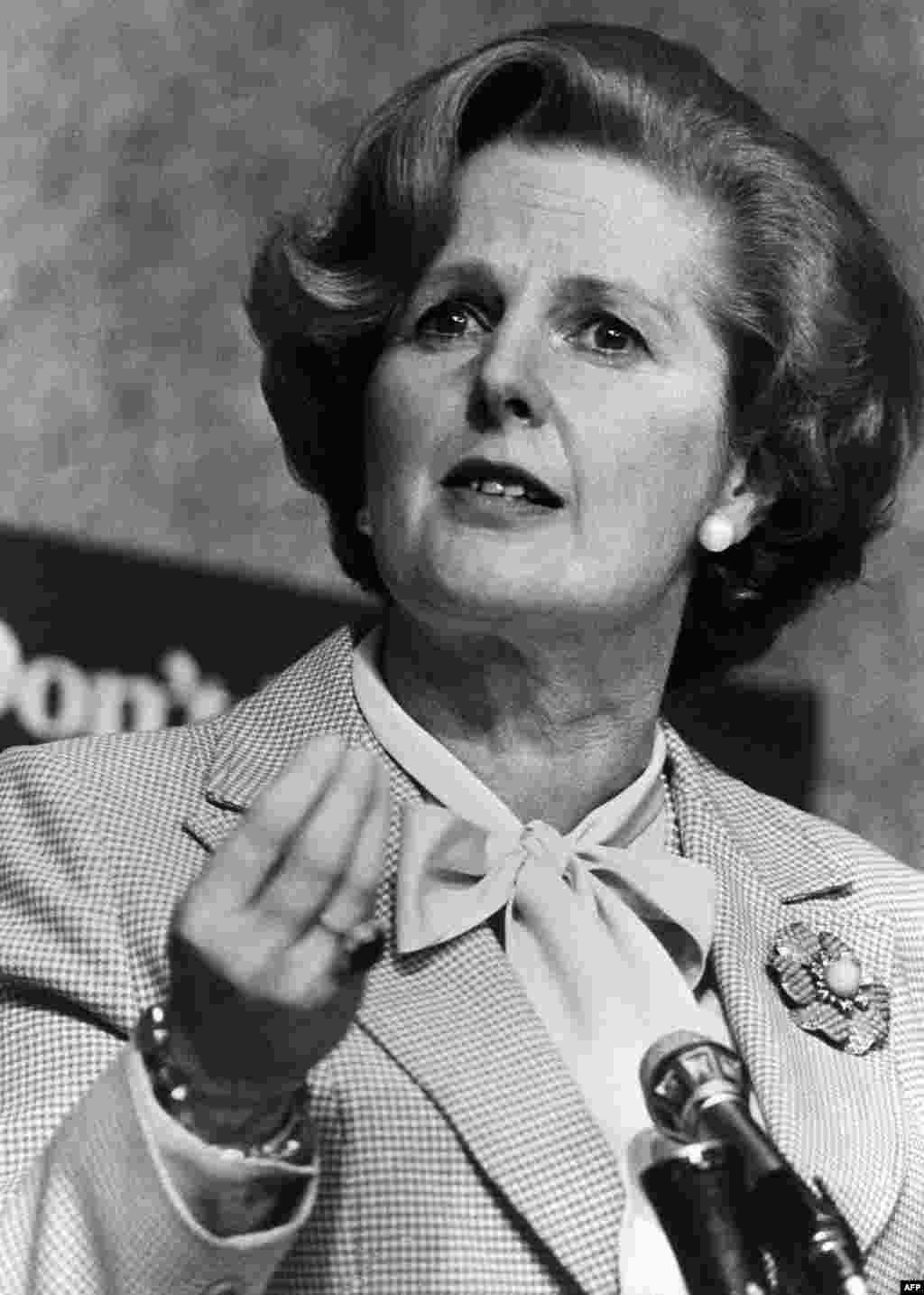 Margaret Thatcher in London in April 1979