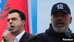 За владу в Албанії змагаються опозиційний лідер Люльзім Баша (л) і чинний прем'єр Еді Рама (п) (комбіноване фото)