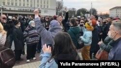 Митинг в Калининграде, Россия (архивное фото)