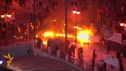 Greek Anti-Austerity Protesters Clash With Police