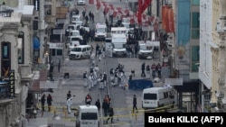 На месте взрыва бомбы. Стамбул, 19 марта 2016 года.