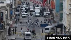 Ստամբուլի Իսթիքլալ պողոտան պայթյունից հետո, 19-ը մարտի, 2016թ․