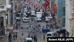 نیروهای پلیس ترکیه در خیابان استقلال استانبول