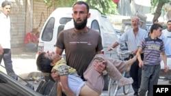 Ребёнок, погибший при обстреле Алеппо 2 октября