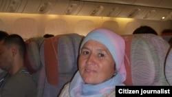 Разыя Әхмәтҗанова Дубайга баручы очкычта