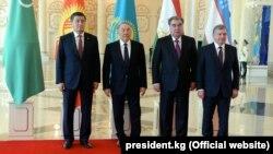 Кыргызстан, Казакстан, Тажикстан жана Өзбекстандын лидерлери, Астана, 15-март 2018-жыл.