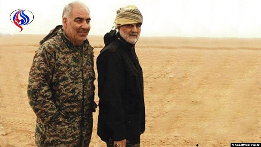 پنج ایرانی از جمله دو عضو ارشد سپاه پاسداران در منطقه بوکمال سوریه کشته شدهاند