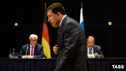 Frank Walter Steinmeier i Sergej Lavrov, Jekatarinburg, 15. avgust 2016.