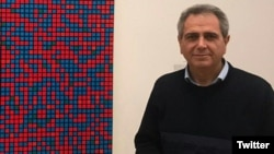 Hamid Namjoo, Iranian novelist and literary critic. Photo from Twitter.